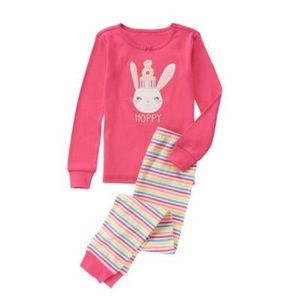 NWT Girls Hoppy Pink Bunny Pajamas!
